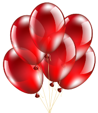 Red Balloons Transparent PNG Clip Art Image
